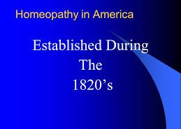 Homeopathy, America