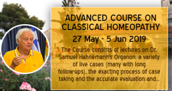 ADVANCED COURSE ON CLASSICAL HOMEOPATHY