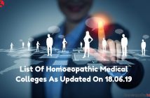 List Of Homoeopathic Medical Colleges As Updated On 18.06.19